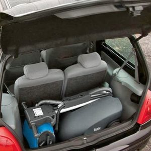 The Fimap Genie B battery walk behind scrubber dryer fits neatly into the boot of a car