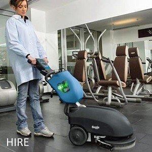 Fimap Genie B battery scrubber dryer Gym HIRE