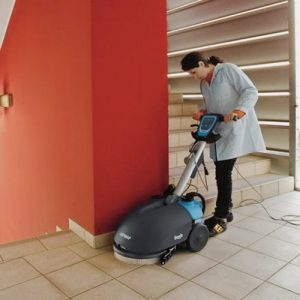 Fimap Genie E mains powered walk behind scrubber dryer