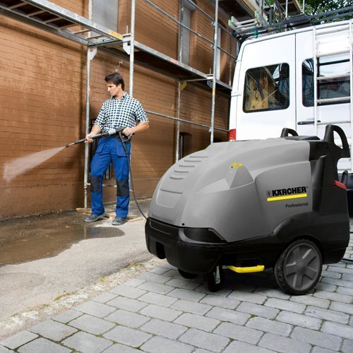 The Karcher HDS 7/10-4M, a powerful industrial steam pressure washer is available to hire, buy new, used or refurbished jet wash. High pressure cleaners can be used for various applications including Vehicle cleaning, Equipment and machinery cleaning, Workshop cleaning, Service station cleaning, Facade cleaning, Swimming pool cleaning, Cleaning production systems, Cleaning in production processes, Cleaning of sports facilities. You can hire industrial pressure washers and hire commercial jet wash or why not buy industrial pressure washers or buy new, used or refurbished commercial jet washes.