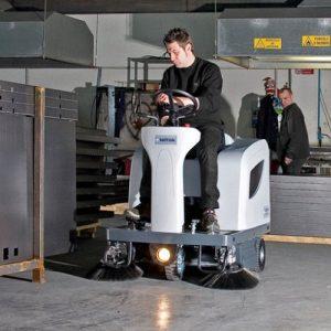 Nilfisk SR1101 battery ride on sweeper