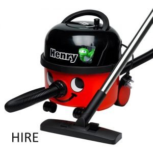 Numatic HVR200 Henry Vacuum Cleaner Hire. Small commercial vacuum cleaner available for hire. Ideal for shops, offices, restaurants and home etc. Rent a vacuum cleaner today