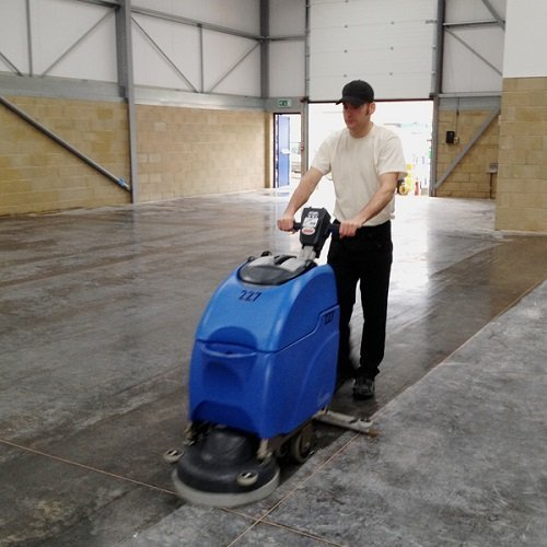 Numatic TT3450 & TTB3450 battery walk behind scrubber dryer warehouse cleaning machine