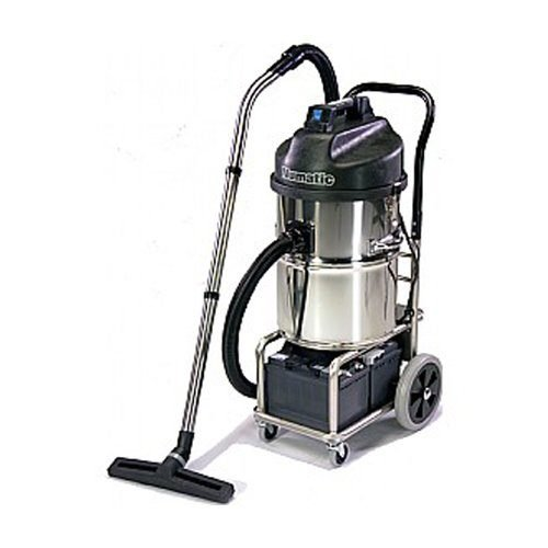 Numatic WVB 750 battery powered wet vacuum cleaner available to hire or buy. If you need a battery wet vacuum cleaner hire or a battery vacuum cleaner hire the Numatic WVB750 is a great commercial and industrial wet and dry vacuum cleaner with up to two and a half hours run time. Buy a battery vacuum cleaner or buy a battery wet vacuum cleaner today.