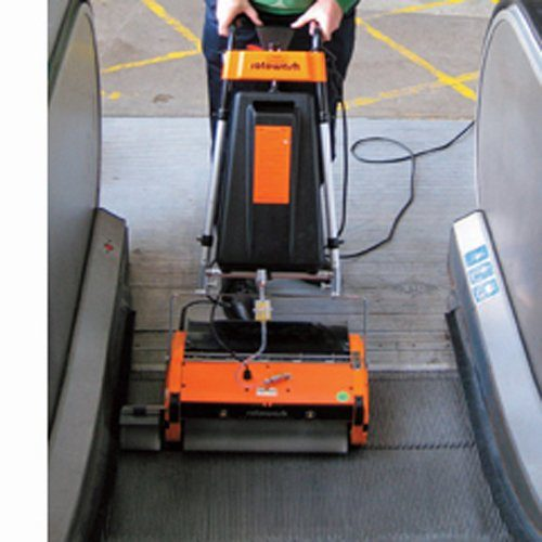 The Rotowash M45 ESC escalator cleaning machines, available to buy new, used, refurbished or hire. Our escalator cleaner hire or buy options cater for general maintenance and deep cleaning of the escalators and travelators including the up risers. Buy or hire an escalator or travelator cleaning machine for shops, airports, sports and shopping centres etc.