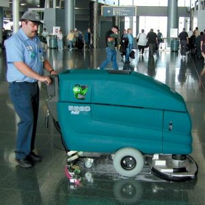 Tennant 5680 pedestrian scrubber dryer airport cleaning machine