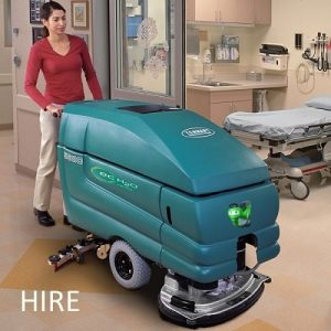 Tennant 5680 battery walk behind scrubber dryer hire hospital cleaning machine
