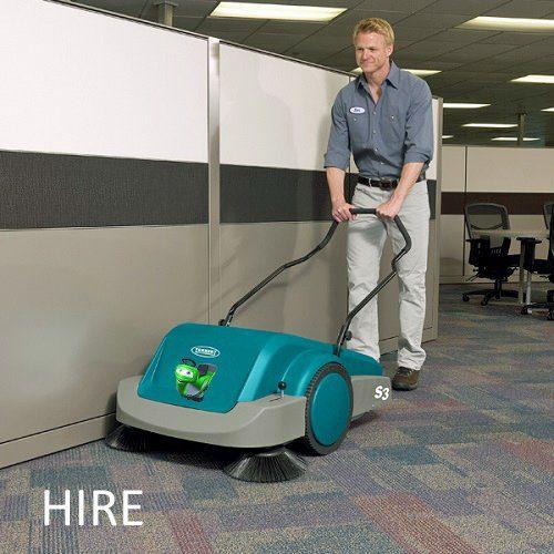 Tennant S3 manual push along pedestrian hard floor and carpet sweeper