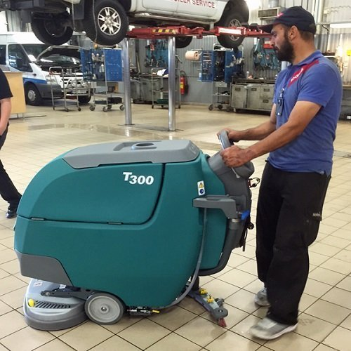 tennant floor machine