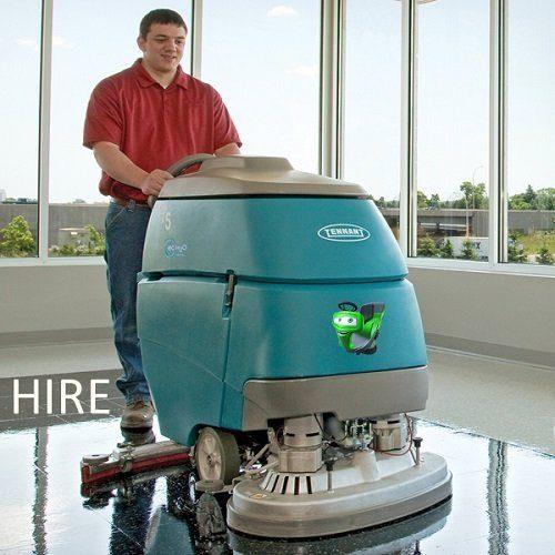 Tennant T5 battery hire pedestrian scrubber dryer floor cleaning machine