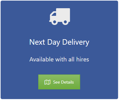 Get your cleaning machine delivered the next working day, subject to availability.