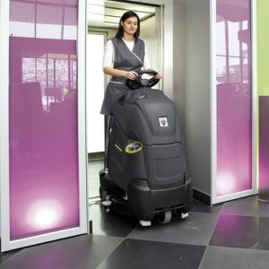 Karcher BD 50/40 RS Hire Battery Powered Step On Scrubber Dryer
